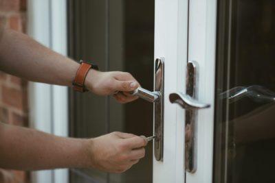 Key in patio door