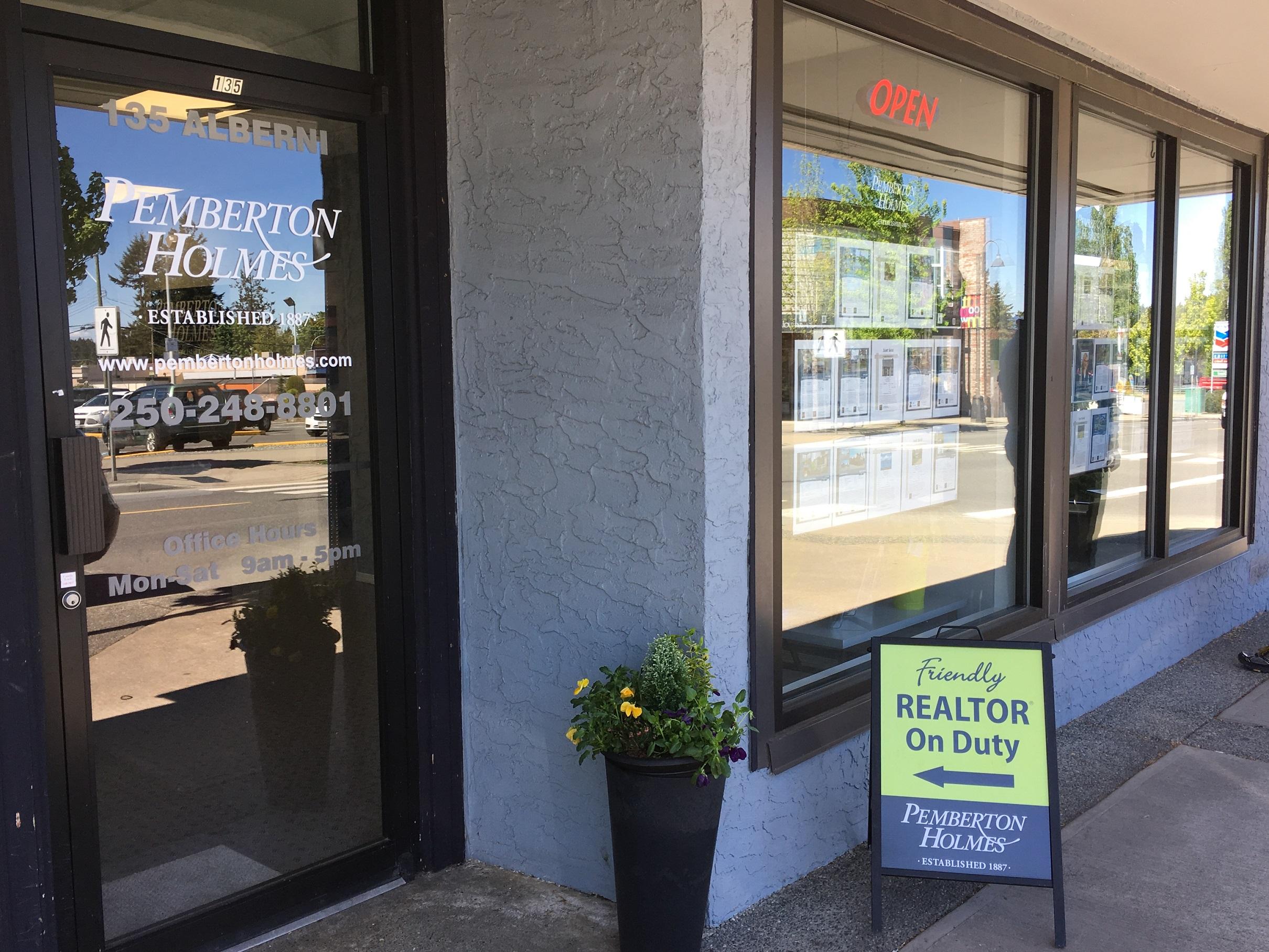 Pemberton Holmes Parksville Qualicum BC office contact information